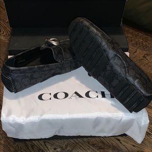 Coach charcoal men's loafers shoe